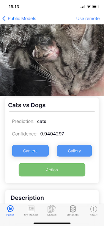 SeeMe.ai model prediction